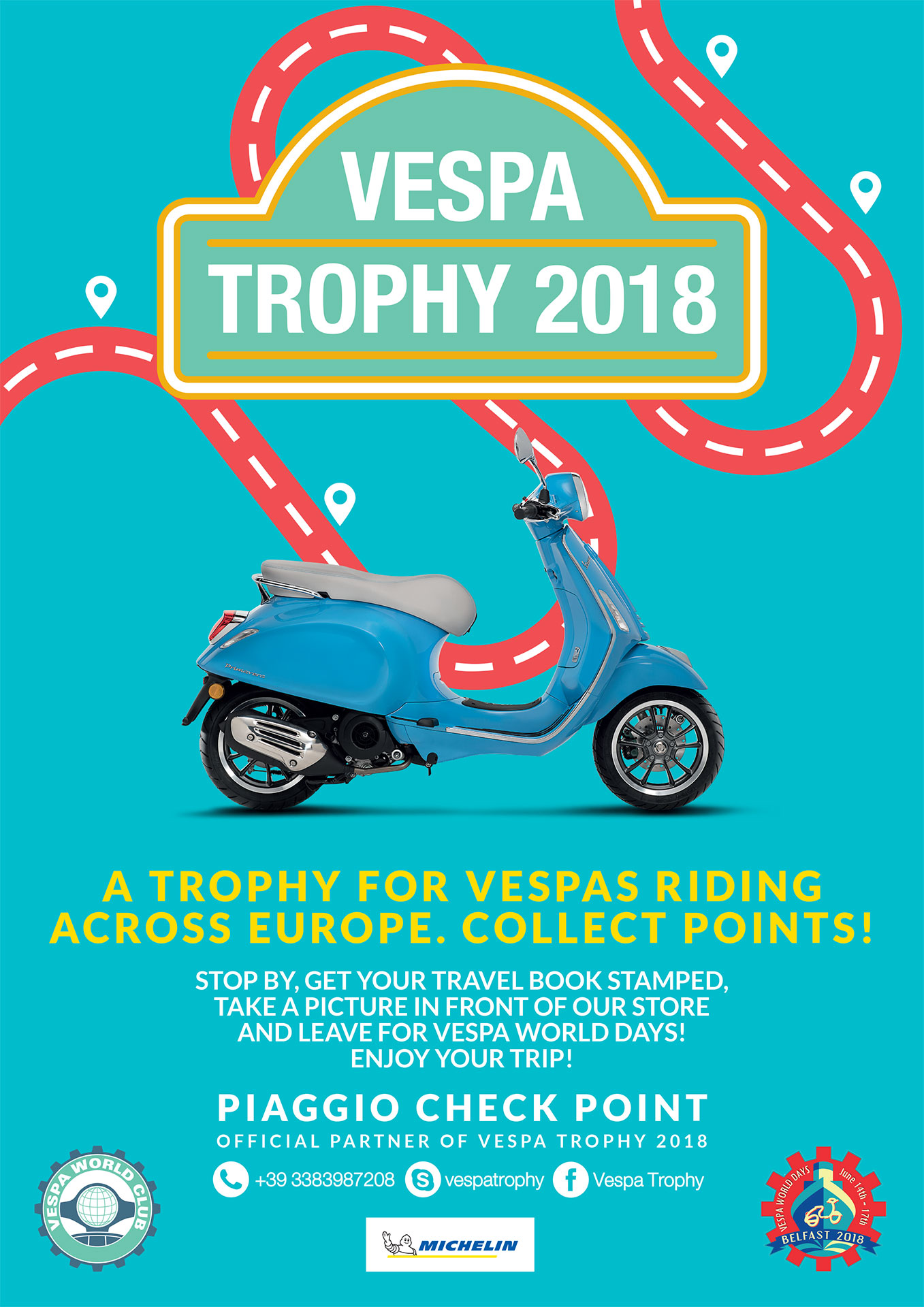 vespa trophy 2018 la clinique du scooter. Black Bedroom Furniture Sets. Home Design Ideas